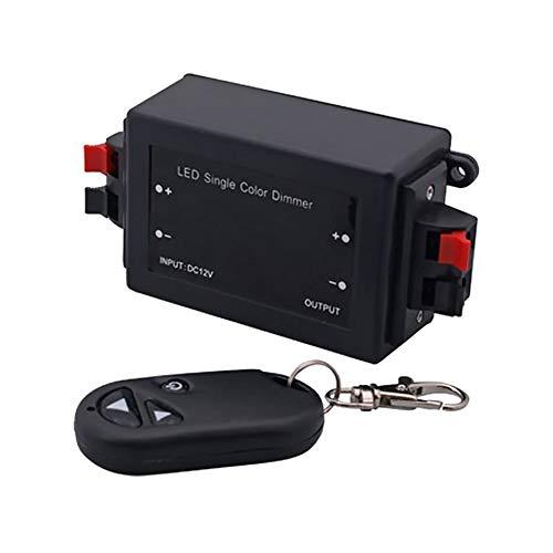 Isuper Professioneller Dimmer-Controller mit Einer einzigen Farbe RF 3 Key Light Dimmer LED Dimmer DC 12-24 V 8 A -