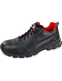 """Puma 640521–202–44""""Pioneer, zapatos de seguridad baja s3, ESD SRC, tamaño 9,5, Negro/Rojo/Blanco"""
