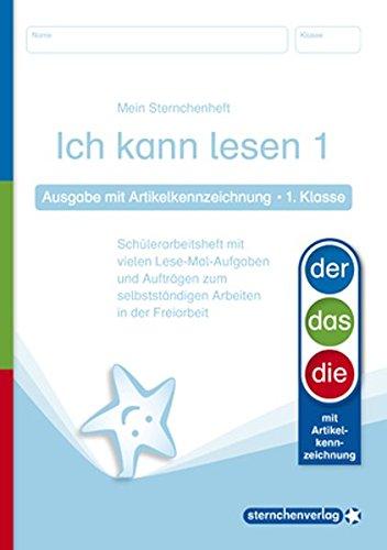 Buchcover Ich kann lesen 1 - Ausgabe mit Artikelkennzeichnung - 1. Klasse: Mein Sternchenheft mit vielen Lese-Mal-Aufgaben und Aufträgen zum selbstständigen Arbeiten