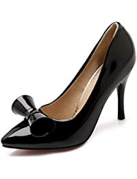 1TO9 Niñas hebilla hebilla banquete de goma pumps-shoes, color Plateado, talla 38