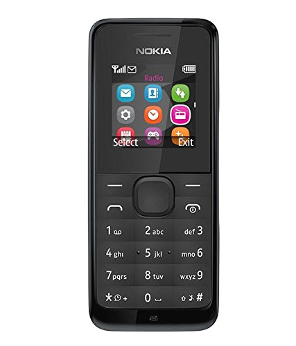 Nokia 105 SIM-Free Mobile Phone, Black