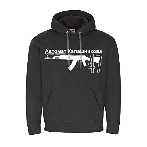 Automat Kalaschnikowa 47 Sowjetisch Russisch Sturmgewehr Russland UDSSR Waffe Deko Kaschi AK Gewehr DDR Ostblock - Kapuzenpullover XL #16374
