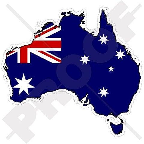 AUSTRALIA Mappa-Bandiera Australiana AUSSIE 4.3
