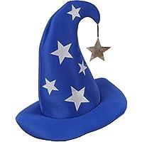 COOLMINIPRIX 1 x Sombrero de Mago Merlin Azul con Estrellas – Calidad 1c4e171ccf7