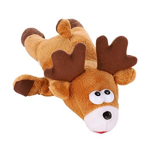 Agnes Bruce Pet Dog Chew Giocattolo della barretta di Natale Moose Pendente dell'albero di Natale Stretch Giocattolo (Color : Chocolate, Se envía Desde : Estados Unidos-M)