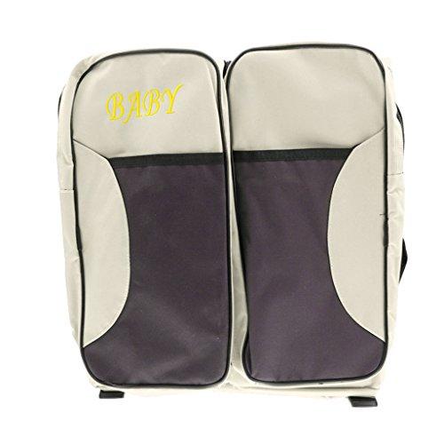 Fenteer Multifunktionale große Kapazität Tasche Mama Paket tragbare Babybett Reisebett Wickeltasche Pflegetasche - Beige