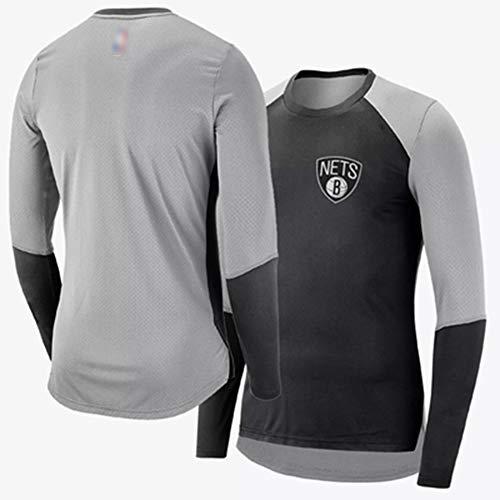 Brooklyn Nets Grundierendes Strumpfhosen Basketball Short Sleeve T-Shirt Weste Das Neue Jersey Herbst Winter Sportbekleidung,XL180~190CM