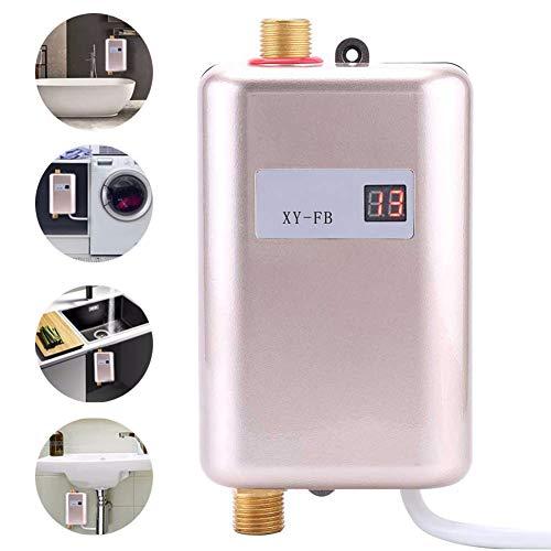 Elektro-Durchlauferhitzer ohne Tank,Mini-Thermostat-Wand-Warmwasserbereiter, 110 V / 220 V 3.4kw,schnelle 3 Sekunden-Küchen-Warmwassersystem,Gold,220V - 220 Elektro-durchlauferhitzer