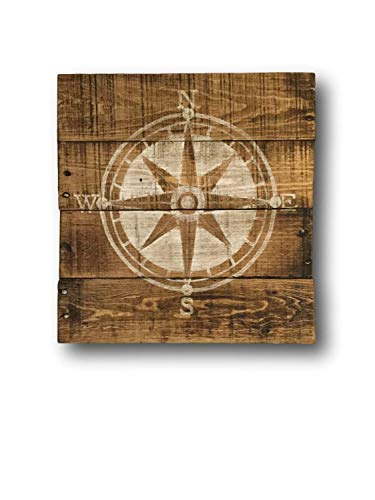 Monsety Nautisches Kompass-Schild für Kinderzimmer, nautisches Design, Holz, Wanddekoration, Geschenk