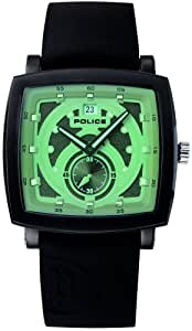 Police 'Phalanx' Gents Green Dial With Black Silicon Strap Watch