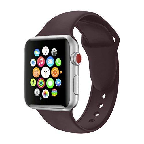 Für Apple Watch Armband 38mm 42mm, VODKER Soft Silikon Ersatz Uhrenarmbänder Sport Smart Watch Armbänder Uhrenarmband für iWatch Apple Watch Series 3, Series 2, Series 1, Nike+, Sport, Edition