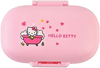 MK 1 Pc Hello Kitty PP Proof of Air Leaks Soap Dispenser Travel Case Soap Box Bathroom Accessories-Assorted Color & Design