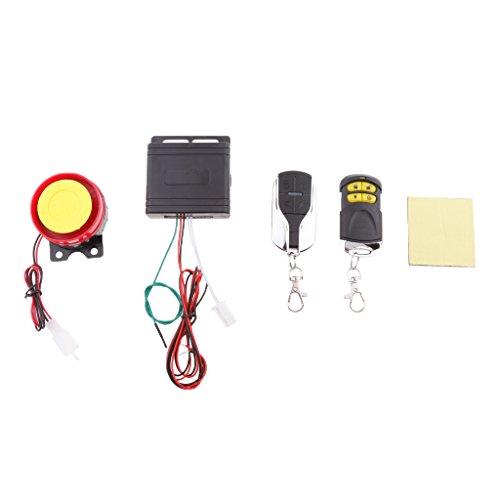 Sharplace Sistema de Seguridad Sirena Antirrobo para Vehiculo 12V Controlo Remoto