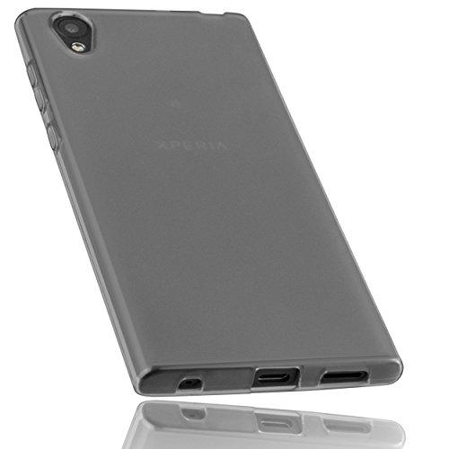 mumbi Schutzhülle für Sony Xperia L1 Hülle transparent schwarz