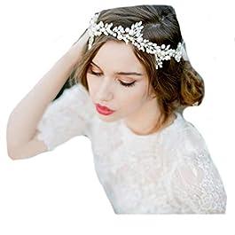 Accessori per capelli vintage, matrimonio, cristallo elegante, stile retrò da sposa, fascia per capelli, diadema…