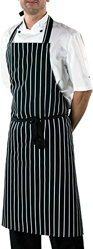 dennys-unisex-cotton-striped-workwear-butchers-apron-one-size-navy-white