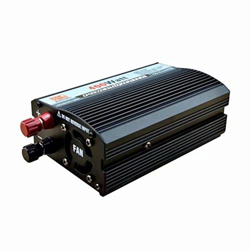 DWAN48 Portable Power Inverter 400 Watt DC 12 V zu AC 220 V Transformator Auto Spannungswandler USB Auto Ladegerät für Outdoor Camping Kühlschrank Handy Laptop (Schwarz) Ac Power Inverter Ladegerät