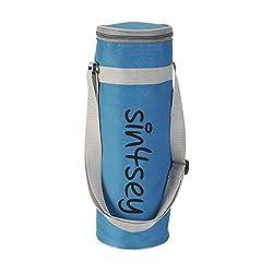 sin4sey Kühltasche Für Flaschen Bis 1,5 Liter Mit Verstellbarem Trageriemen Weinkühler (blau)