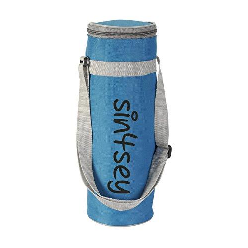 Kühltasche für Flaschen bis 1,5 Liter mit verstellbarem Trageriemen (blau)