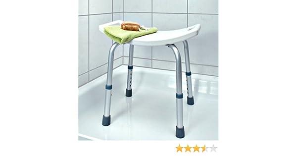 Bakaji sgabello doccia bagno per anziani regolabile sedia per