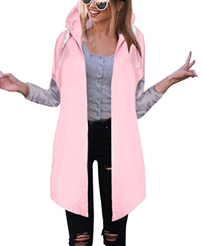Spring Autumn Women Coats Hooded Cardigans Langarmshirts Hoodies Casual Pockets Tunic Sweatshirt Long Hoodie Outerwear Jacket Jumper Pulli (Womens Hoodie Baumwolle Long)