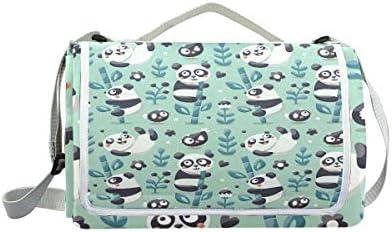 Jeansame Cute Pandas bambù Cartoon Picnic Mat Mat Mat Coperta da Picnic, da Campeggio per Outdoor Viaggio Yoga Escursionismo Impermeabile Portatile Pieghevole 150 x 145 cm | Nuove varietà sono introdotte  | Economici Per  27db81