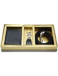[Sponsored]Vanalika Combo Of Gents Wallet,Gents Belt And Key Chain(Gift Set Made Of Leatherite)