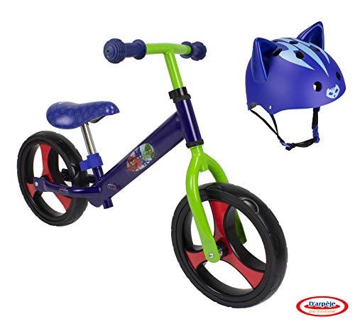 DARPEJE- Bicicleta correpasillos Trendy 12íí + Casco con Orejas 3D de PJ Mask (OPJM437), Multicolor