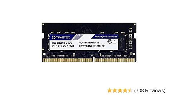 Timetec Hynix IC DDR4 2400MHz PC4-19200 Non ECC Unbuffered 1.2V CL17 2Rx8 Dual Rank 260 Pin SODIMM Laptop Notebook Computer Memory Ram Module Upgrade (8GB)
