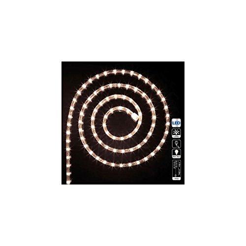 Déco Noël - Guirlande Tube lumineux 10 mètres Ampoules led Blanc chaud et 8 jeux de lumière