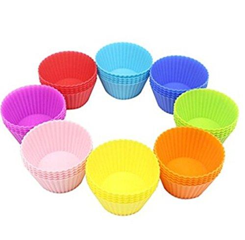 Yinew wiederverwendbare Backförmchen in 12 Farben aus Silikon / Muffinförmchen Muffinform Cupcake Muffin-form Backförmchen