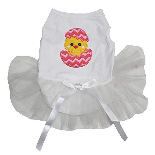 Rock Kostüm Küken - Petitebelle Hochzeitskleid für Hunde, Osterküken mit Hemd, Baumwolle, Weiß