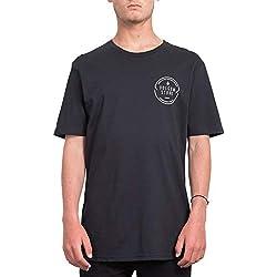 Volcom Chop Around BSC SS Camiseta, Hombre, Black, M