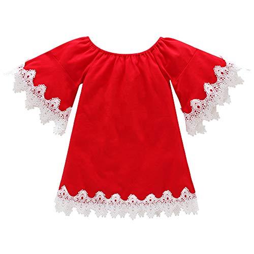 (Beikoard Kleinkind Baby Kind Mädchen Aufflackern Hülsen Spitze Prinzessin Dress Outfits Clothing Festliche Kinderkleider Lange Ärmel Outfit Set)