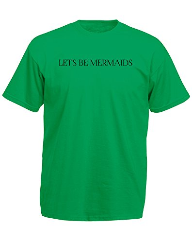 Brand88 - Brand88 - Let's Be Mermaids, Mann Gedruckt T-Shirt Grün/Schwarz