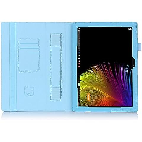 ISIN Funda para Tablet Serie Funda de Premium PU con Stand Función para Lenovo Ideapad MIIX 4 MIIX 700 de 12,0 pulgadas 2 en 1 Convertible Windows 10 Tablet PC Laptop con Velcro Correa para la Mano y Ranuras para Tarjetas