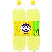 Kas Limón Bebida Refrescante - Paquete de 2 botellas x 2000 ml - Total: 4000 ml - [Pack de 3]
