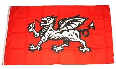 Fahne / Flagge England weißer Drache NEU 90 x 150 cm