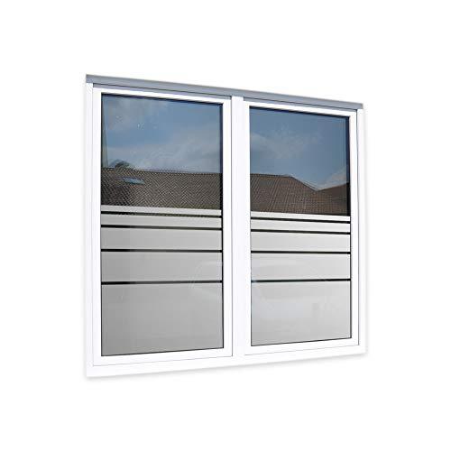 LAVICOM Sichtschutzfolie Fensterfolie Glasdekorfolie ~ Dynamische Streifen + Maßanfertigung