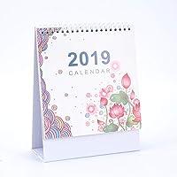 JKHGJUH Planen Sie Kalender Home Stand Calendar 2019 Desktop Calendar Desktop-Kalender für Office