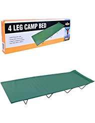 Milestone Camping 20240 4 Leg Folding Fishing Camping Bed Sleeping Portable Backpack Tent Outdoor Travel Hiking Hunting Green H18 x W59 x L180cm