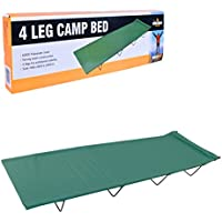 Milestone Camping 4 Leg Camp Bed - Green