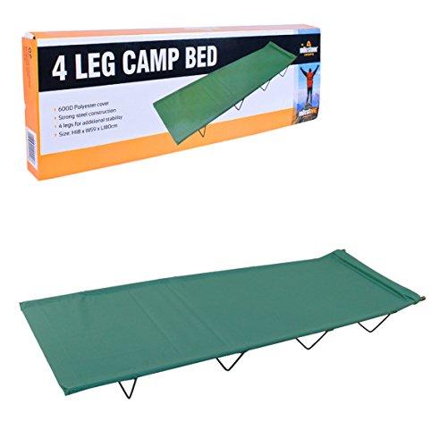 Milestone Camping 4-beiniges Feldbett – Grün… | 05025301202408