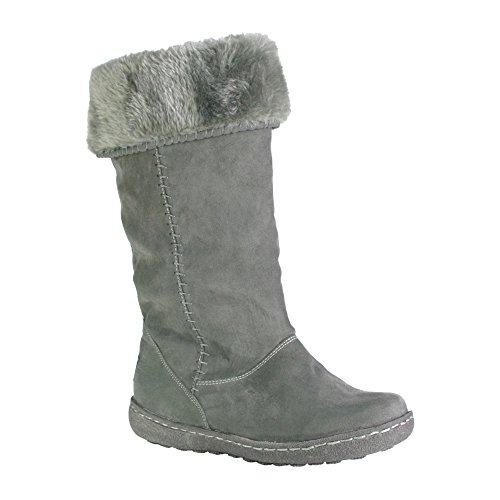 PixieHolly - Stivali a Gamba Larga donna , grigio (Grey), 39