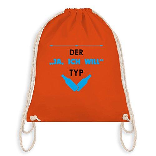 JGA Junggesellenabschied - Der Ja, ich will Typ - Turnbeutel I Gym Bag Orange