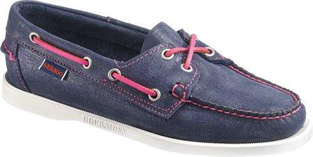 Sebago Docksides, Chaussures Bateau Femme BLEU ROSE