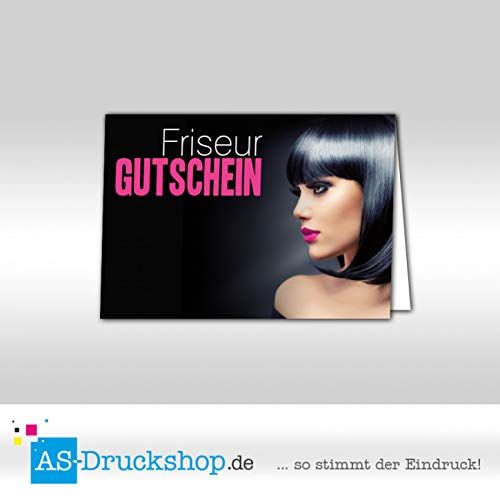 Gutschein Friseur - Nachtblau / 50 Stück/DIN A6