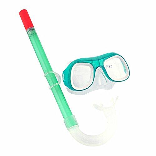 Taucherbrille mit Schnorchel und Brille Aviator-Stil aus gehärtetem Glas