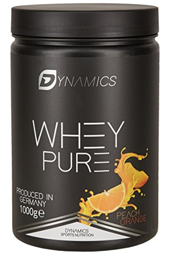 Dynamics Nutrition Whey Pure 1kg | Whey Isolate | Low Carb | Low Fat | Aspartam Frei | Hergestellt in Deutschland | Eiweißpulver zum mischen mit Wasser oder Milch | (Pfirsich-Orange)