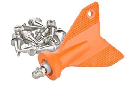 Set Spike-Nägel Dornen 9 mm Leichtathletik m. Spike-Schlüssel 14 Stück LAUFSTOFF